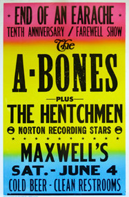 A-BONES / HENTCHMEN POSTER (1994)