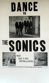 SONICS POSTER (MIDWEST 60'S BAND)