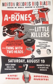 A-BONES / LITTLE KILLERS BBQ POSTER