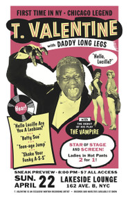T. VALENTINE - LAKESIDE LOUNGE POSTER
