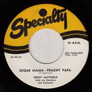 PERCY MAYFIELD - SUGAR MAMA - PEACHY PAPA