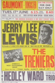 JERRY LEE LEWIS POSTER, THE TRENIERS POSTER REPRO