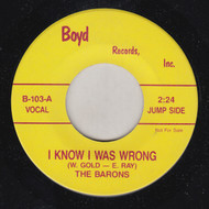 BARONS - I KNOW I WAS WRONG