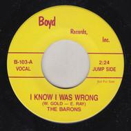 BARONS - I KNOW I WAS WRONG