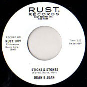DEAN AND JEAN - STICKS AND STONES
