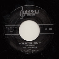 BILL JOHNSON - YOU BETTER DIG IT