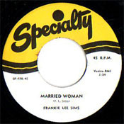 FRANKIE LEE SIMS - MARRIED WOMAN