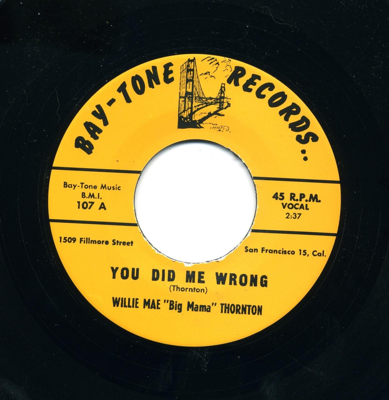 Big Mama Thornton You Did Me Wrong Norton Records