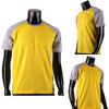 BCPOLO Casual  2 Tone Yellow-Gray Raglan Crew Neck Short Sleeves Shirt