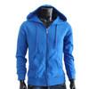 Royal Blue hoodie style Plain Solid zip up hoodie zip hoodie