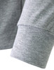 turtleneck melange-sleeve detail