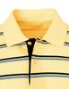 Short Sleeve Pique Striped Polo Shirts-Unisex