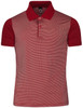 Short Sleeve Stretch Striped Polo Shirts-Unisex