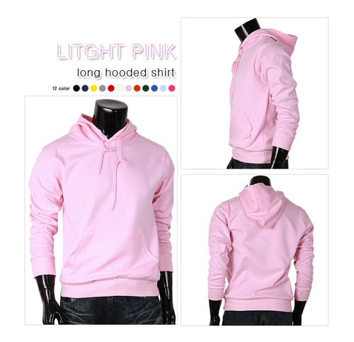 light-pink hoodie pull-over style hoodie t-shirt