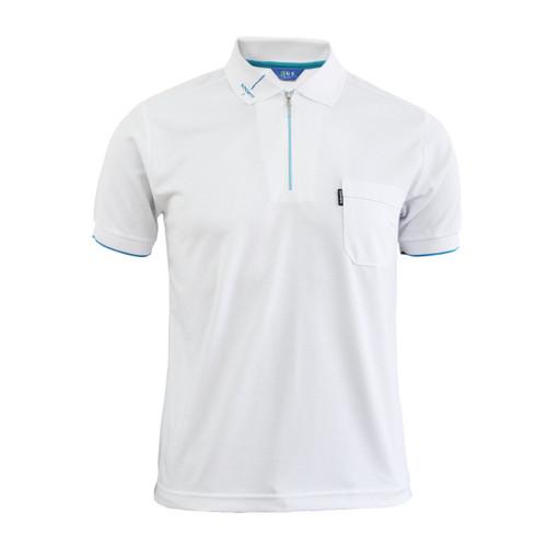 Coolon Stitch Polo t-shirt, short sleeve-white