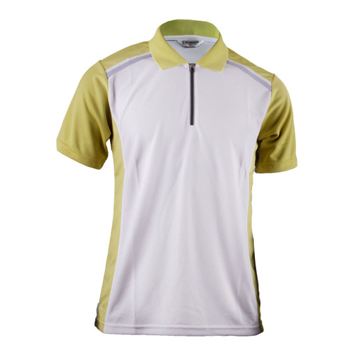 POLO SHIRT NEW SUMMER YELLOWGREEN CONTRAST SHORT SLEEVE SHIRT