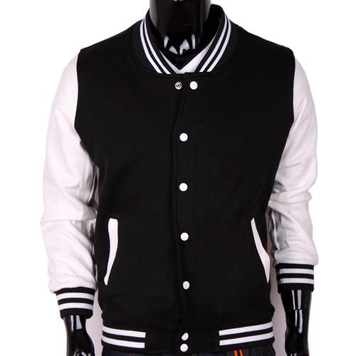 Full black baseball jacket