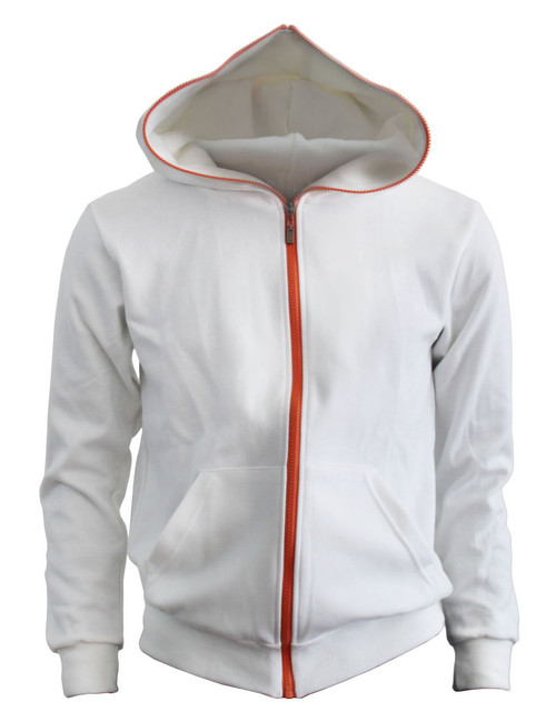 BCPOLO Cotton Full Zip-up Hoodie_ WHITE