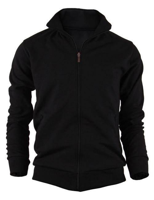 BCPOLO Cotton Jersey Full Zip Cotton Black Jacket