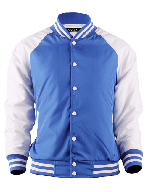 Varsity Quilted Lightweight Baseball Jacket_BLUE