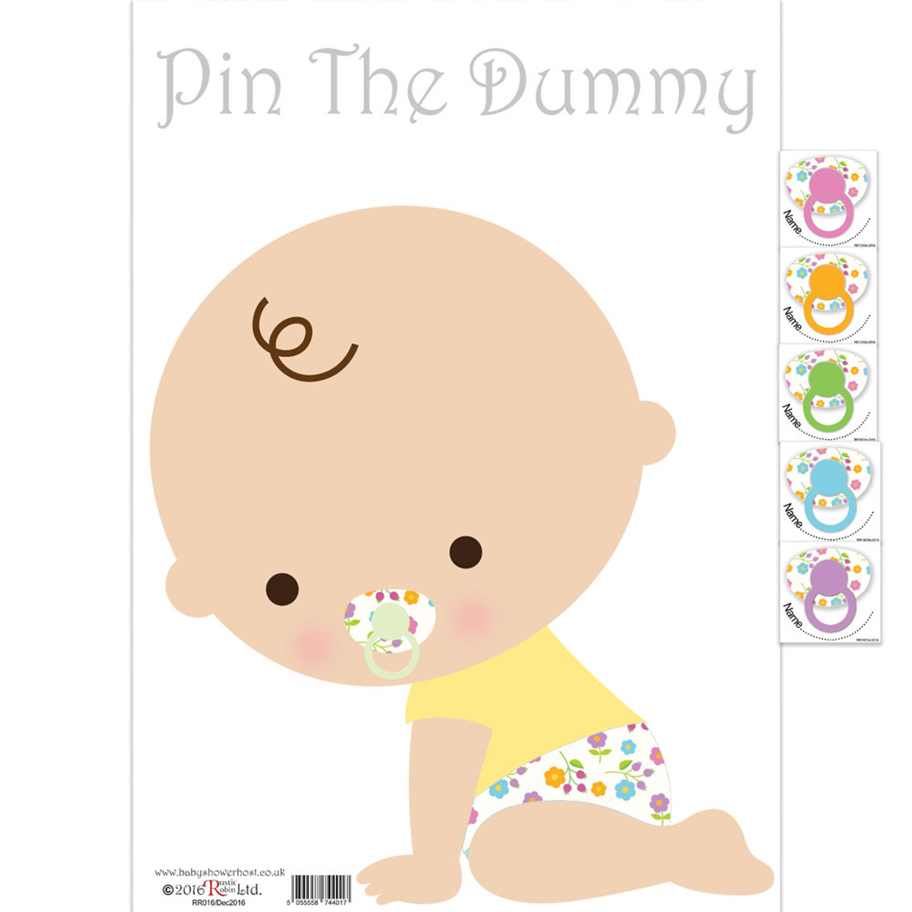 Baby Shower Games Pin The Dummy White Game
