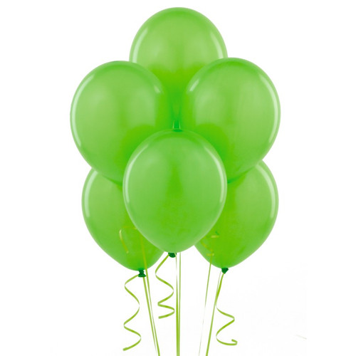 Lime Green Latex Balloon (10)