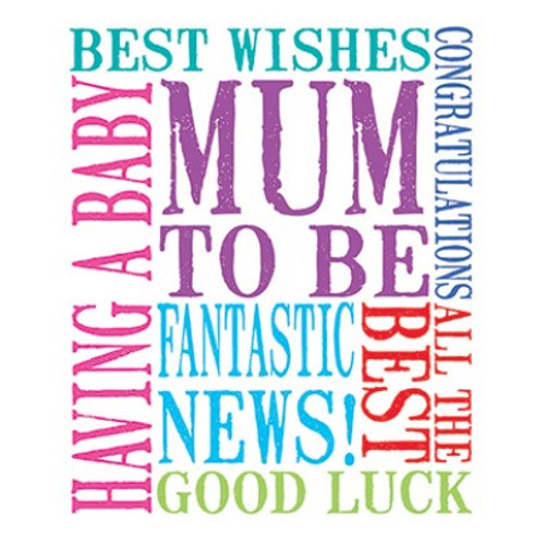 Mum To Be Best Wishes Greetings Card Baby Shower Host