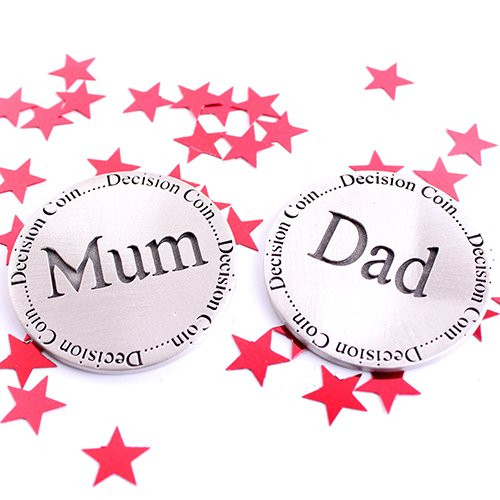 New Parent Gift Mum & Dad Decision Coin