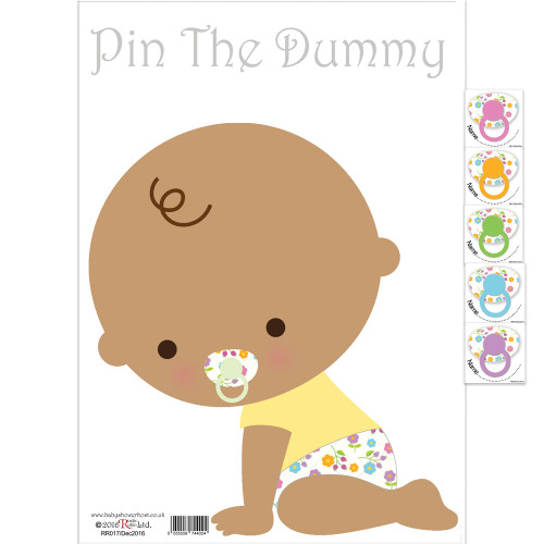 personalised baby shower pin the dummy game white baby shower host