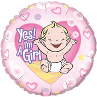 Yes I'm A Girl Foil Balloon
