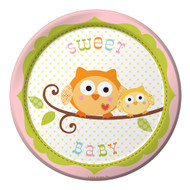 Woodland Happi Tree Pink Dessert Plates (8)