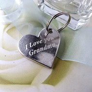 I Love You Grandma Pewter Keyring