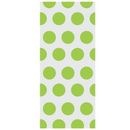 Green Polka Dot Cello Bags with Stickers