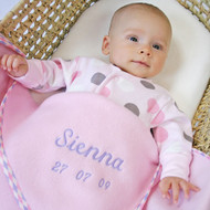 Personalised Baby Girl Fleece Blanket (50x80cm)