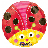 Bright Ladybird Foil Balloon (18in)