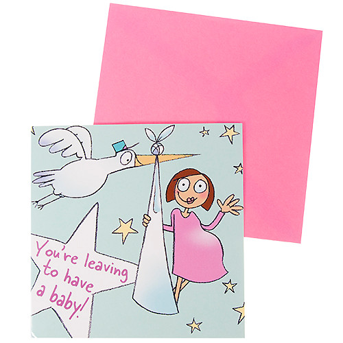 cards baby shower greeting cards you 39 re leaving to have a baby card