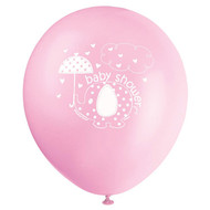 Pink Elephant Umbrella Latex Balloon (8)