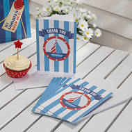 Nautical Baby Shower  Thank You Cards (10)