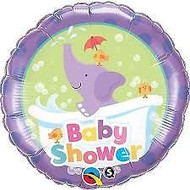 Baby shower Elephant Foil Balloon (18in)