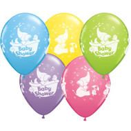 Baby Shower Assorted Elephant Latex balloons (6)