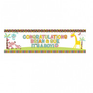 Jungle Personalised Giant Banner (1.65mx51cm)