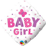 Baby Girl Butterfly Foil Balloon (18in)