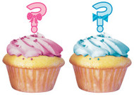 Bow or Bow Tie Cupcake Toppers (12)