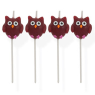 Owl Pick Candles (4)