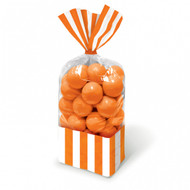 Candy Buffet Striped Party Bags Orange (10)