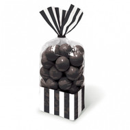 Candy Buffet Striped Party Bags Black (10)