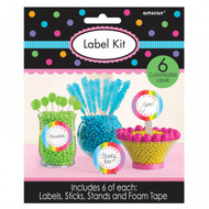Candy Buffet Scalloped Labels Multi Colour Kit (6)