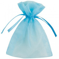 DIY Organza Bags Light Blue (10)