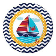 Nautical Ahoy Matey Dinner Plates (8)