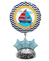 Nautical Ahoy Matey Balloon Centerpiece Kit
